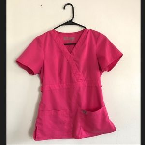 Bright Pink Grey's Anatomy Scrub Top
